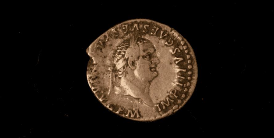 Древнеримская монета, датированная I веком нашей эры. фото: DigVentures