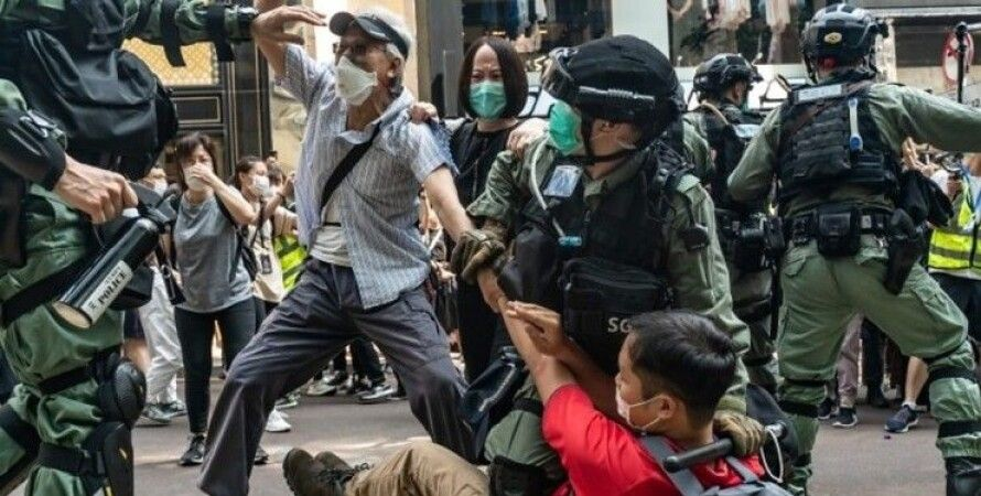 Гонконг, протесты, оппозиция, акции, столкновения с полицией, полиция