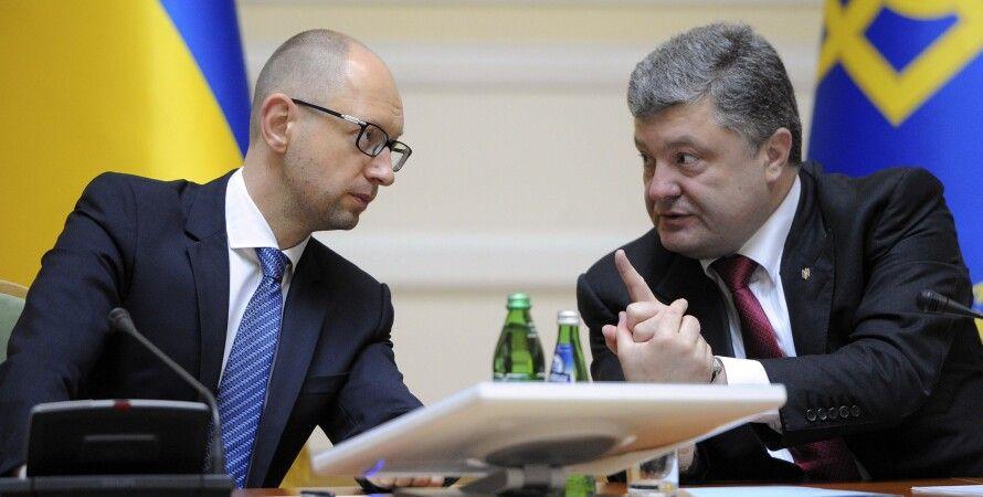 Петр Порошенко и Арсений Яценюк / Фото пресс-службы парламента