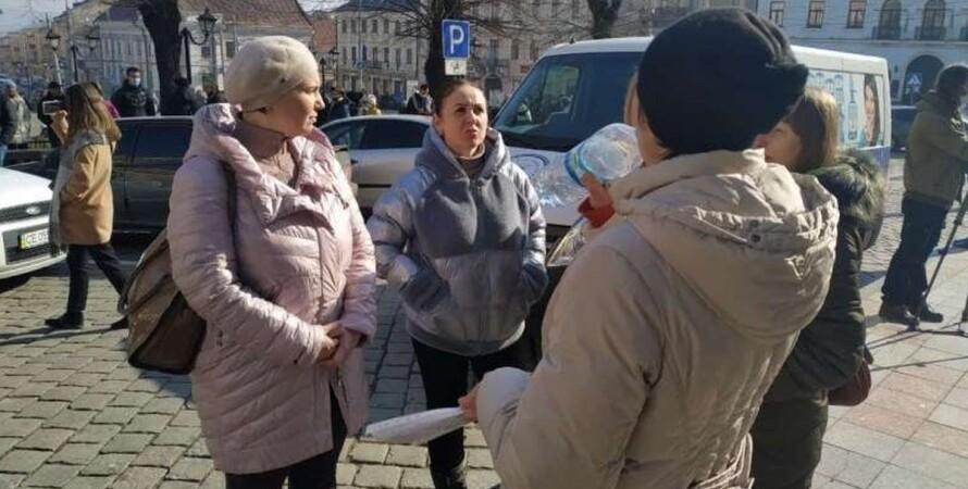 Черновцы, карантин, красная зона, ограничения, предприниматели, протест,