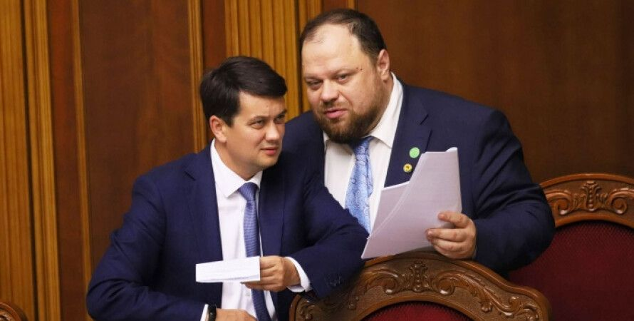 Руслан Стефанчук, Дмитрий Разумков, санкции, Россия