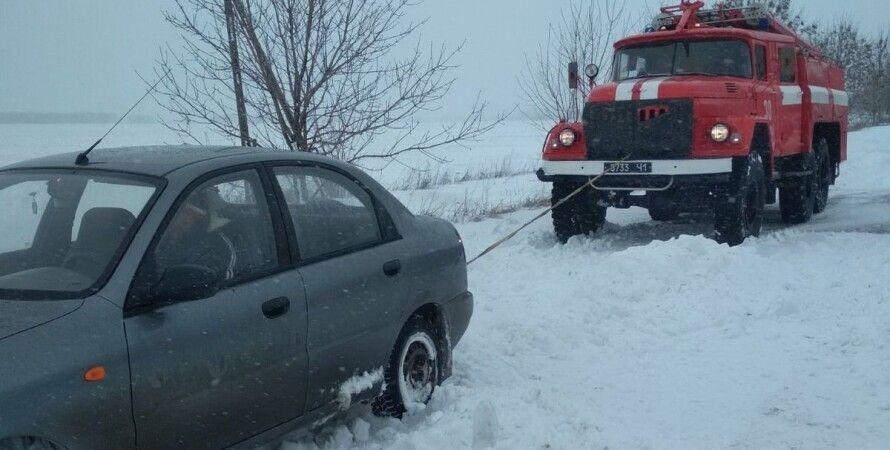 Укравтодор, снегопад, непогода, снегопады, ограничение движения