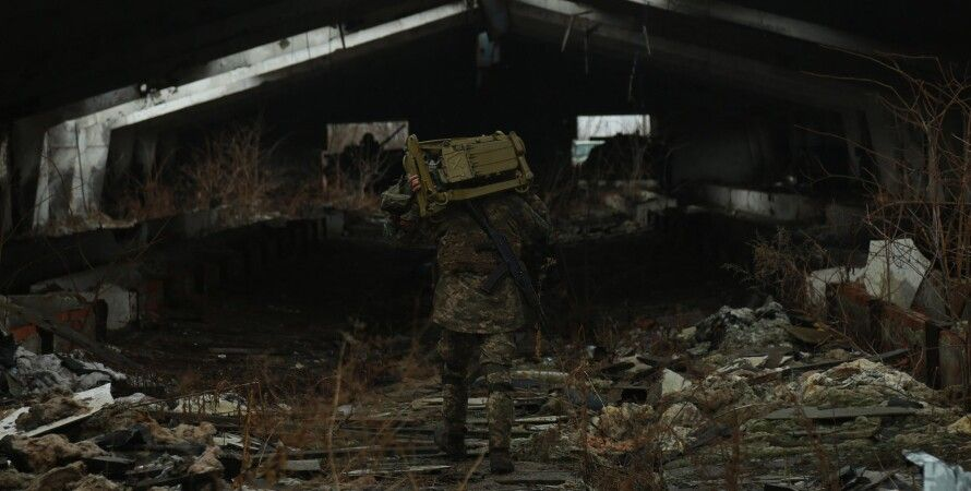 военный, война на Донбассе, обстрел