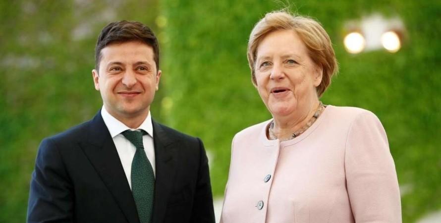 Зеленский, Меркель, встреча,