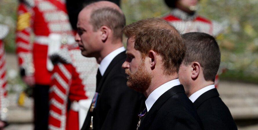 принц Гарри, принц Уильям, похороны