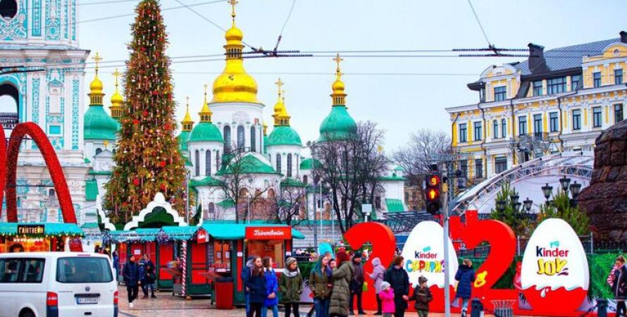 новый год, елка, киев, 2021