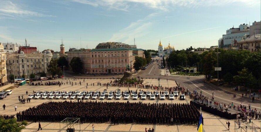 Полицейские в Киеве / Фото: Twitter.com/patrolpoliceua