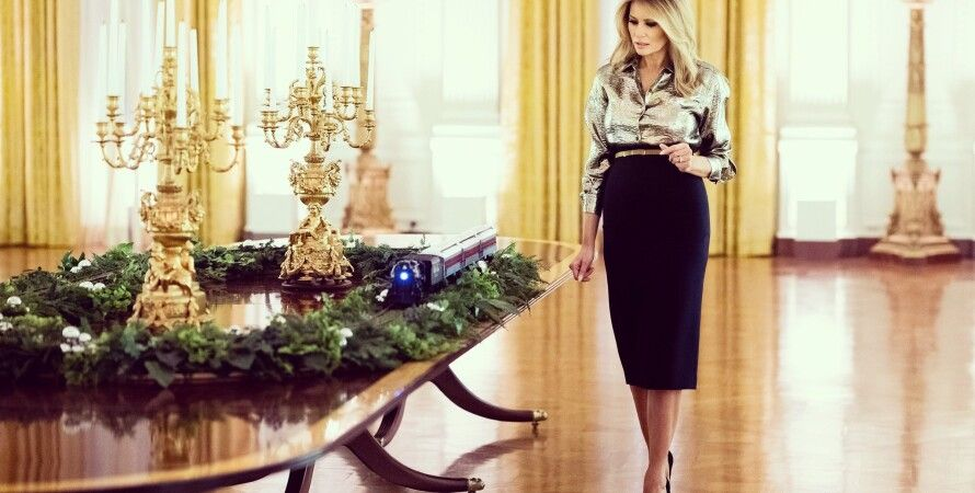 Мелания Трамп, Рождество, фото, 2020, Белый дом, США