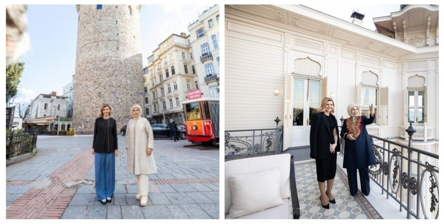 Елена Зеленская, жена Эрдогана. Турция, коллаж