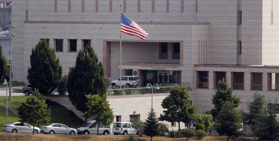 """Посольство США в Анкаре / Скриншот: """"112 Украина"""""""