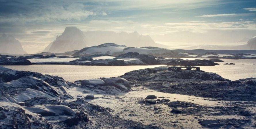 Антарктида, небо, грунт, фото
