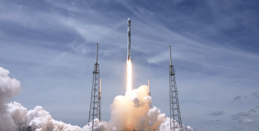 Falcon 9, спутник, ввс сша, навигационный спутник, спутник, комическая ракета, SpaceX, илон маск, запуск ракеты
