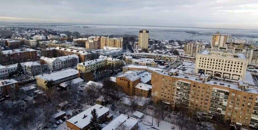 погода, зима, черкассы, город, мороз