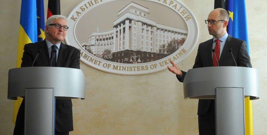 Яценюк и Штайнмайер / Фото: facebook.com/yatsenyuk.arseniy
