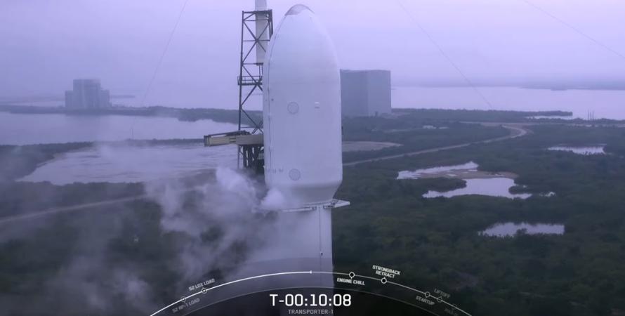 Falcon 9, Transporter-1, spacex, ракета, запуск, супутники