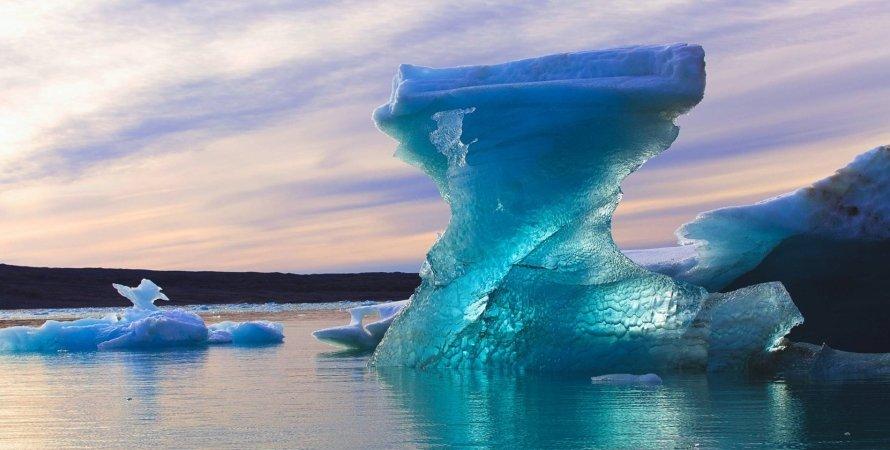 Арктика, океан, лед, небо, фото