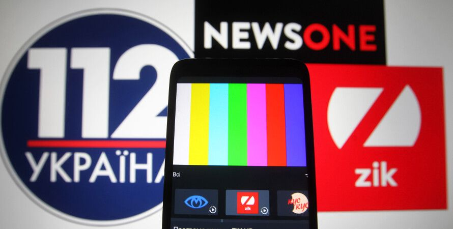 каналы медведчука, санкции зеленского, блокировка каналов, 2021, newsone, 112 украина, zik, графика
