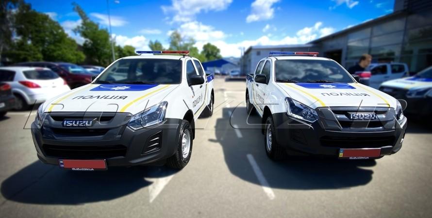 Пикапы Isuzu D-Max Национальная полиция Украины