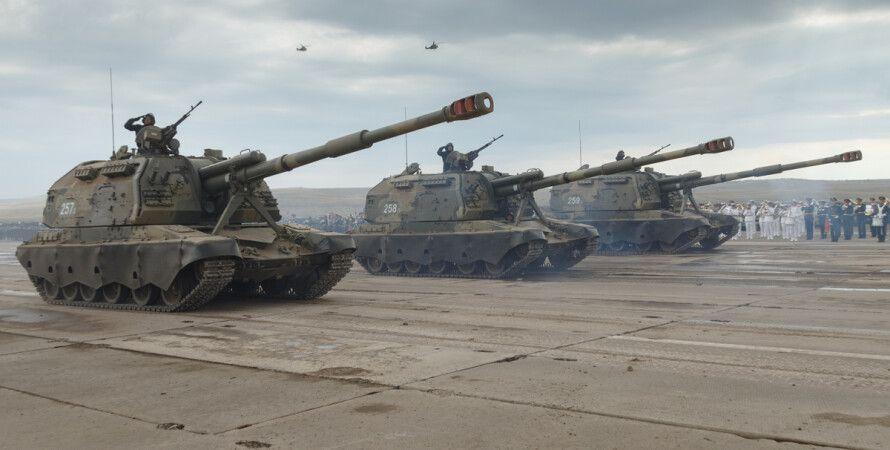 Мста-С, парад, армия, рф, россия, артиллерия, милитаризм