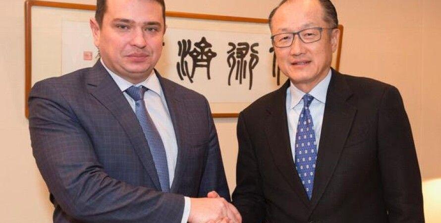Артем Сытник и Джим Йонг Ким / Фото: facebook.com/WorldBankUkraine