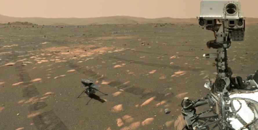 марсоход, вертолет, Perseverance, Ingenuity, Марс