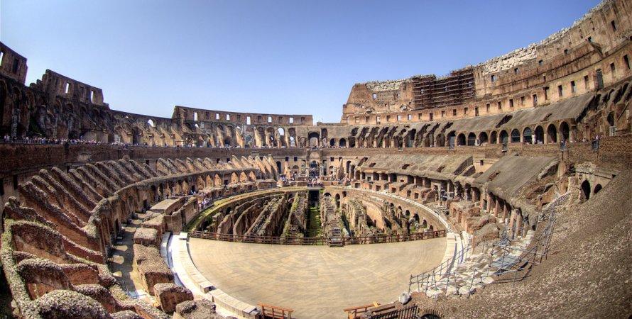 реконструкция колизея. римский колизей