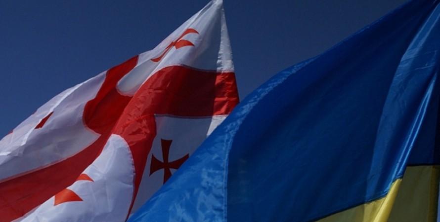 прапор, грузія, Україна, фото