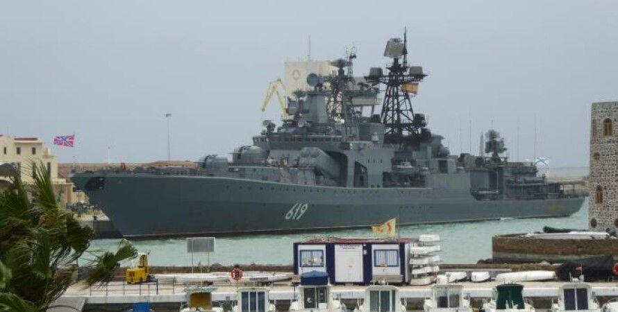 "БПК ""Североморск"" в порту Сеута / Фото: thetimes.co.uk"