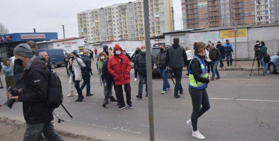 Одесса, рынок, торговцы, карантин, протест,