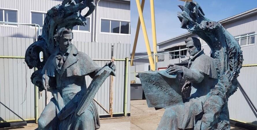 открытие памятника шевченко, памятник шевченко в итолии