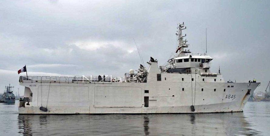 ВМС Франции, Alize (A 645), корабль, черное море, корабль в черном море, вмф франции, морской флот, корабль нато