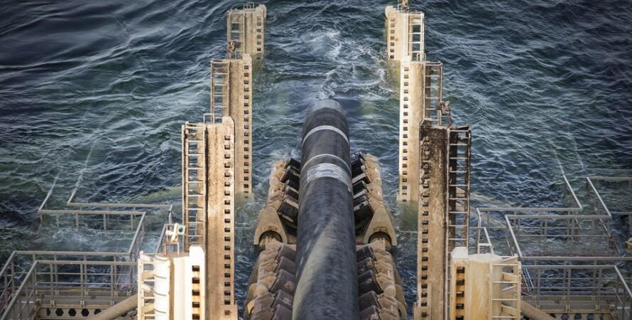 строительство, газопровод, прокладка трубы, море