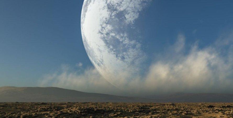 Луна, Земля, небо, почва, снимок