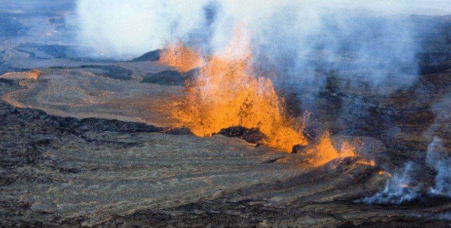вулкан, мауна-лоа, извержение