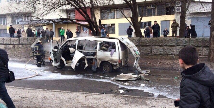"""Взорванный автомобиль / Фото: """"057.ua"""""""