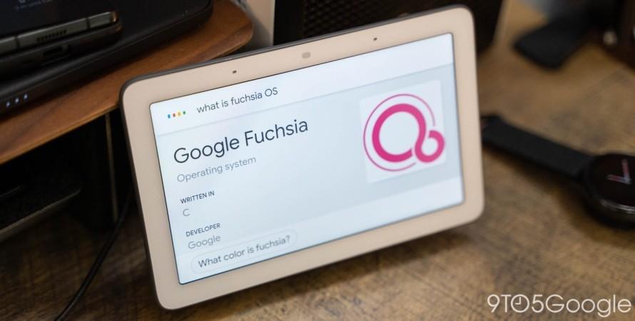 Google, Nest Hub, Fuchsia, фото