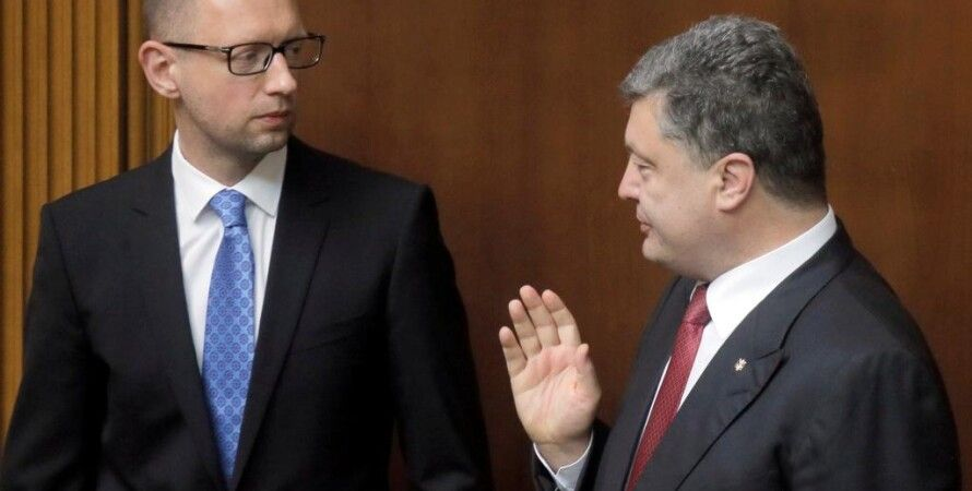 Арсений Яценюк и Петр Порошенко / Фото: AP