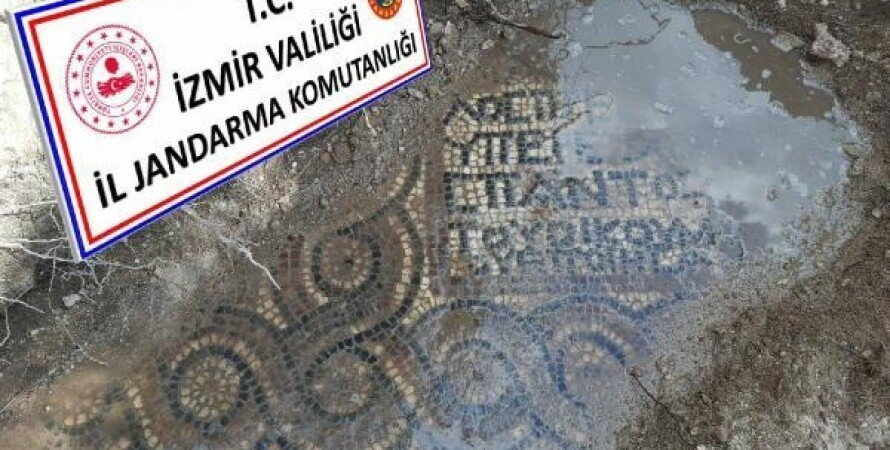 Черные копатели, Турция, Римская эпоха, монастырь, Мозаика