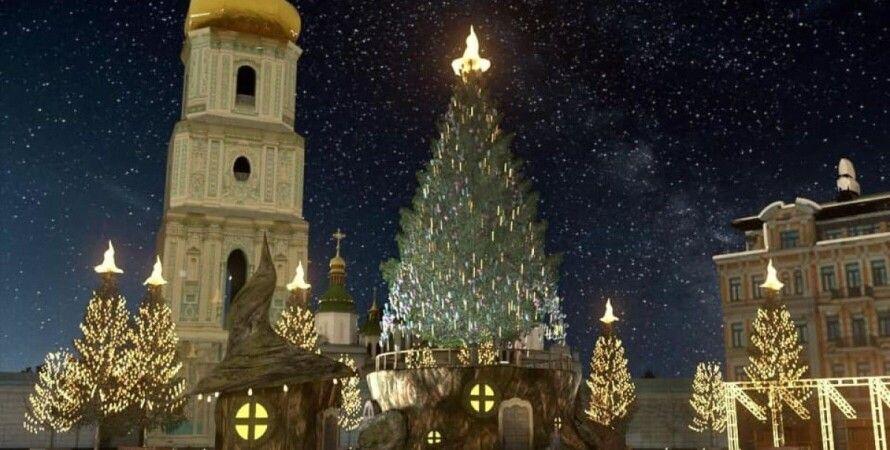 елка, рождественская елка, елка в шляпе, софиевская площадь, новогодняя елка