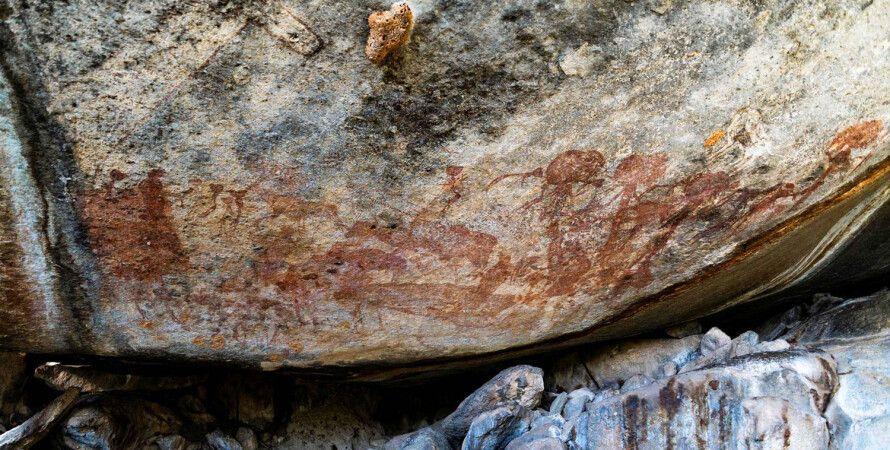 пещера, наскальные рисунки, Танзания, фигуры