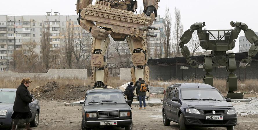 перехожі в Донецьку — зима 2020 року, фото
