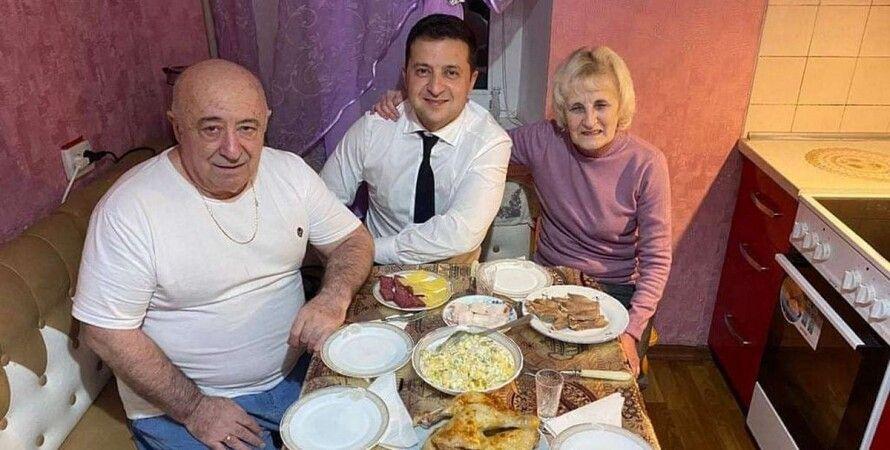 Родители Зеленского, зеленский и родители, владимир зеленский, президент Украины