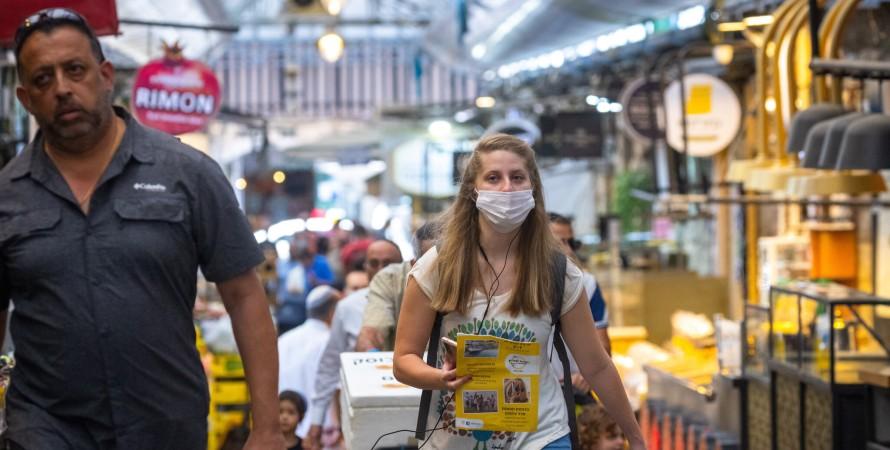 ізраїль, вулиця, люди в масках, фото