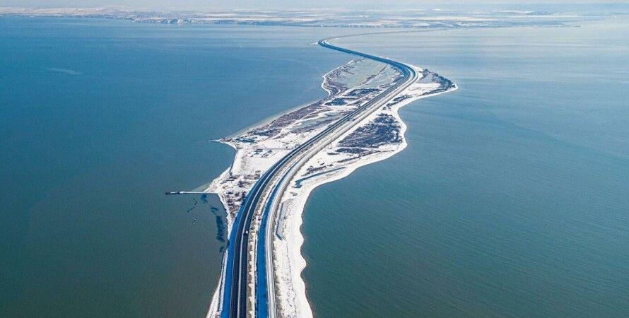 Крым, Крымский мост, снегопады, движение, перекрытие,
