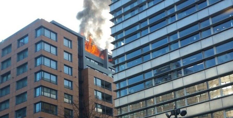 Пожар в берлинском отеле / Фото: twitter.com/ErmBln