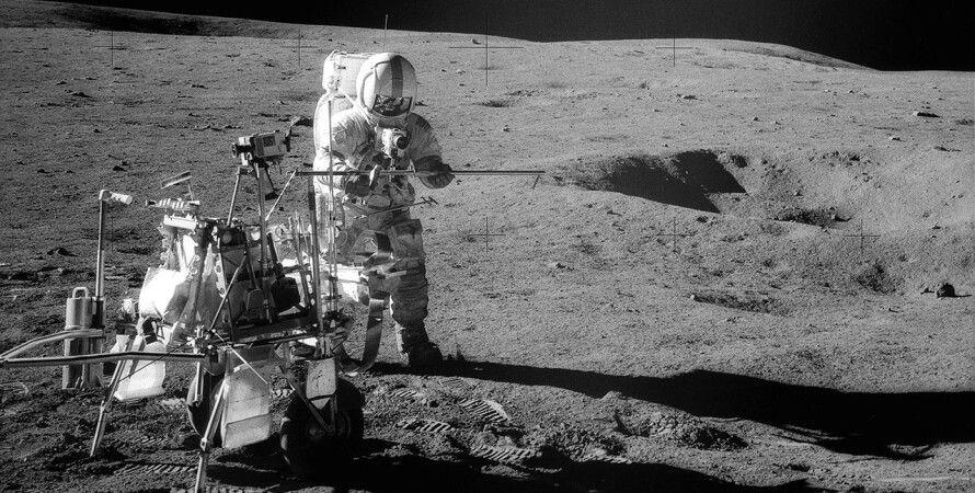 Астронавт Алан Шепард миссии Аполлон-14 на Луне. 1971 год, NASA