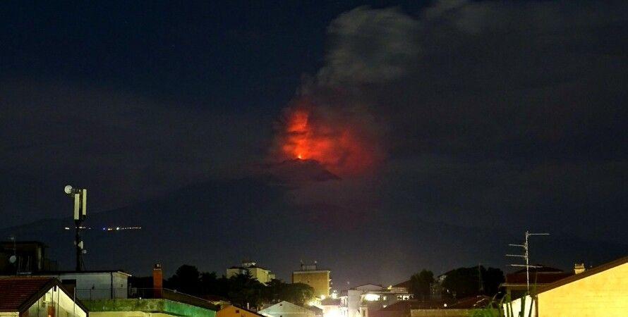 Извержение вулкана Этна / Фото: соцсети