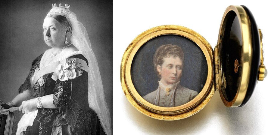 королева виктория, медальон, принцесса алиса