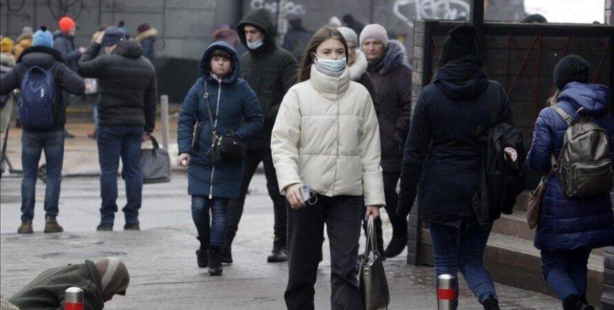 коронавирус, люди, улица, маски, фото