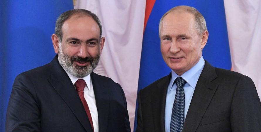 Пашинян і Путін, Пашинян Путін, Нікол Пашинян, володимир путін, армія, військова співпраця, вірменія і росія, рф